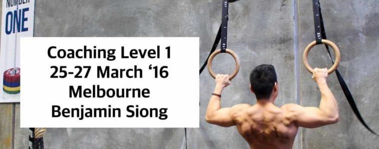 ASP Level 1 Coach-MELBOURNE 25-27 March 16