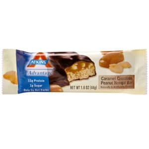 Atkins Advantage Bar Caramel Chocolate Peanut Nougat Nutrition snack Bar