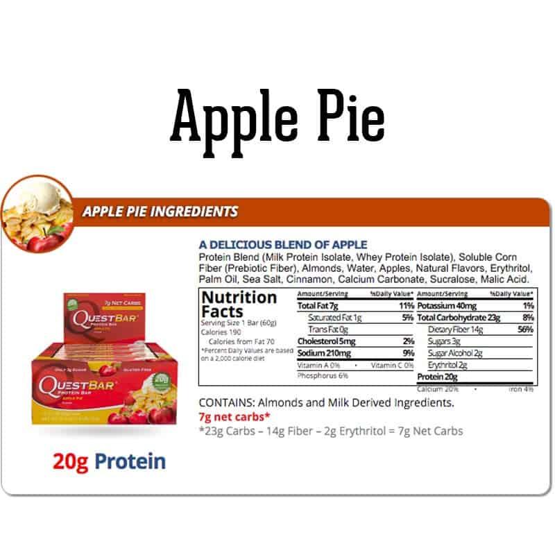 Quest Bar Box Apple Pie