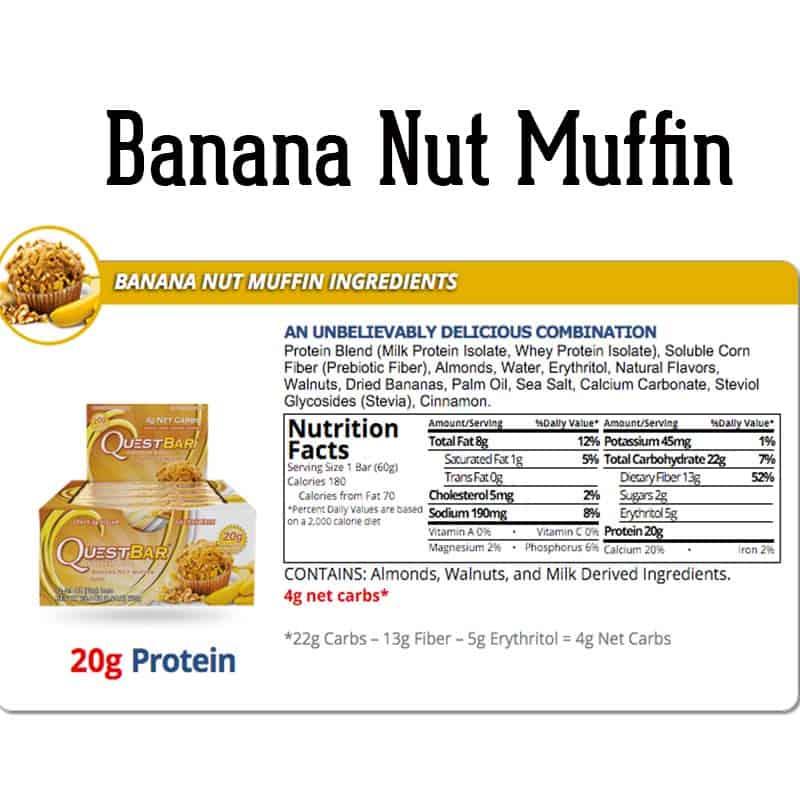 Quest Bar Box Banana Nut Muffin