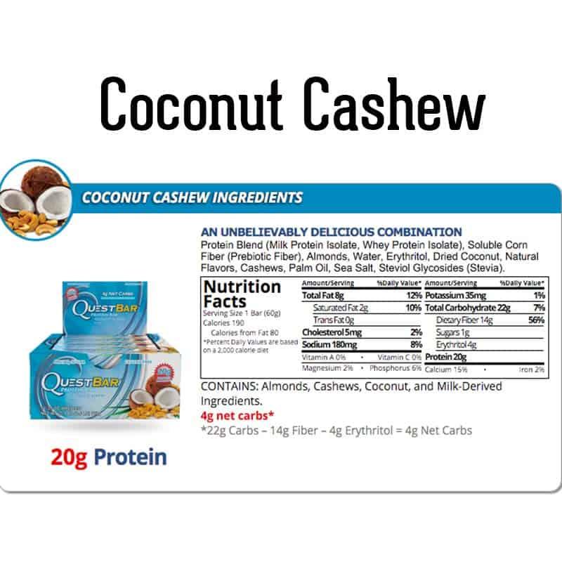 Quest Bar Box Coconut Cashew