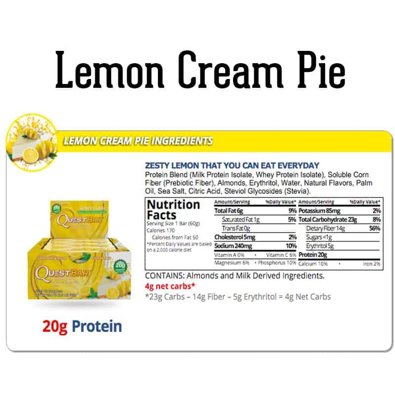 Quest Bar Box Lemon Cream Pie