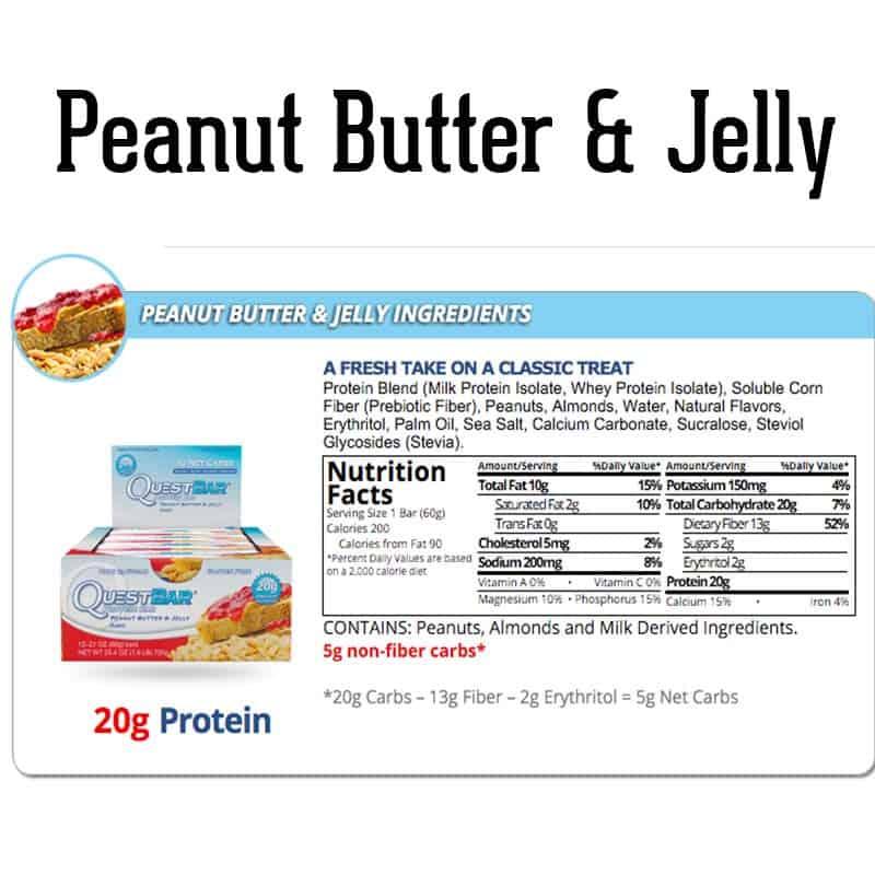 Quest Bar Box Peanut Butter & Jelly