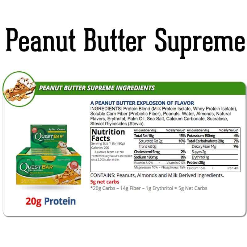 Quest Bar Box Peanut Butter Supreme