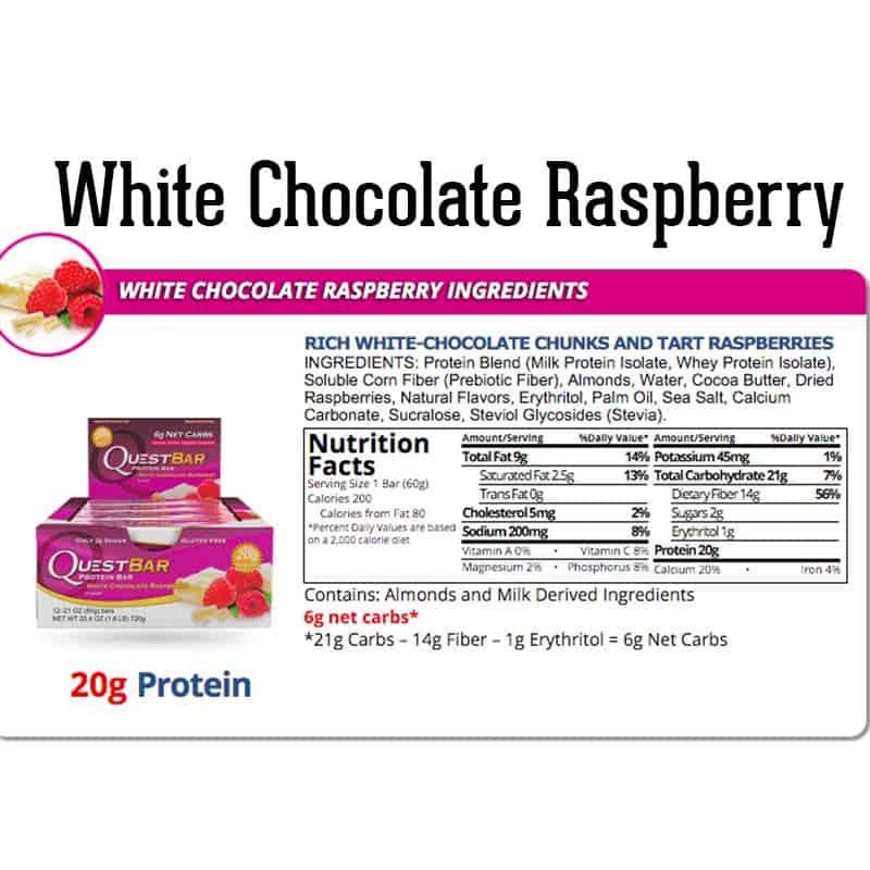 Quest Bar Box White Chocolate Raspberry