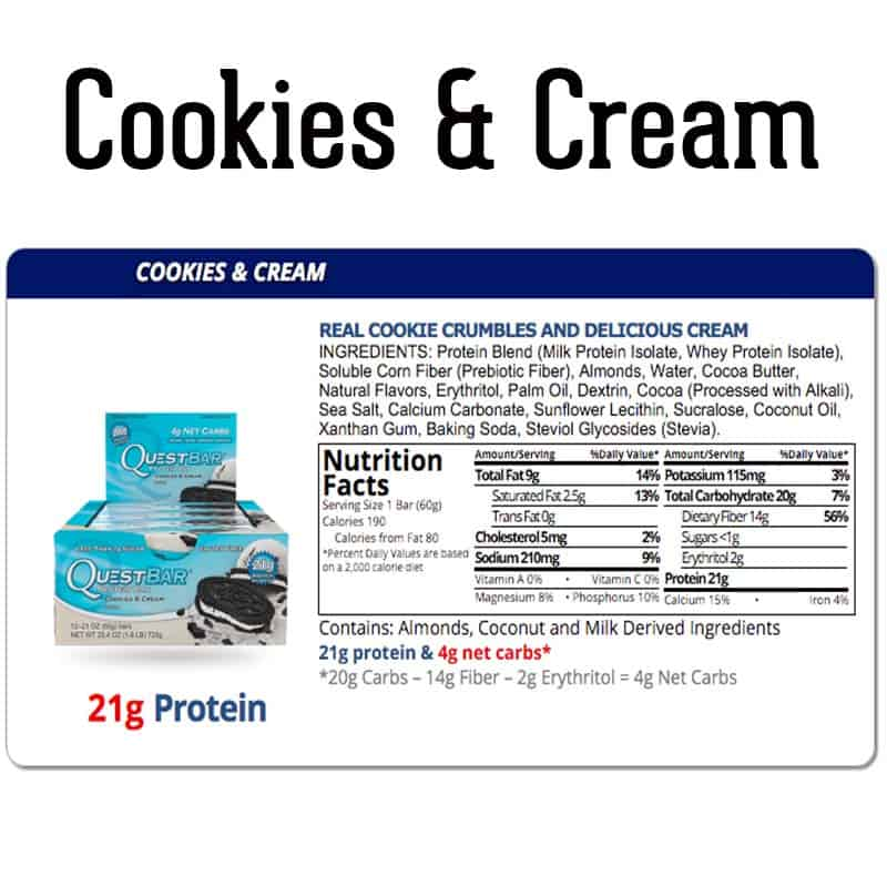 Quest Bar Box Cookies & Cream