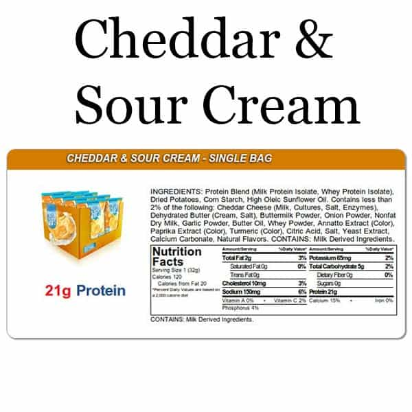 Quest Chips Cheddar & Sour Cream Nutrition Facts Protein