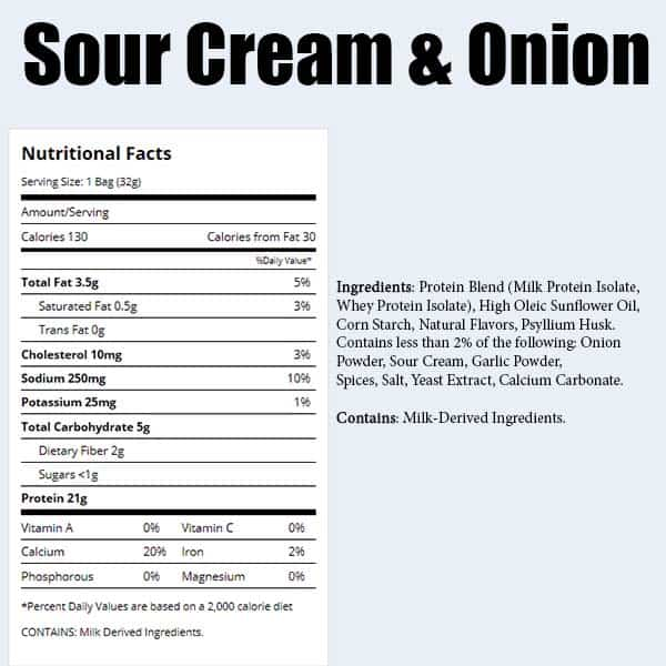 Quest Chips Sour Cream & Onion Improved Nutrition Facts ArmourUP Asia Singapore
