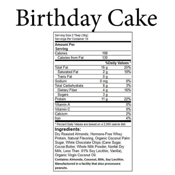 Birthday Cake Protein Butter
