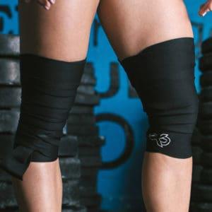 Knee Wraps (Black) by ExoSleeve ArmourUP Asia Singapore