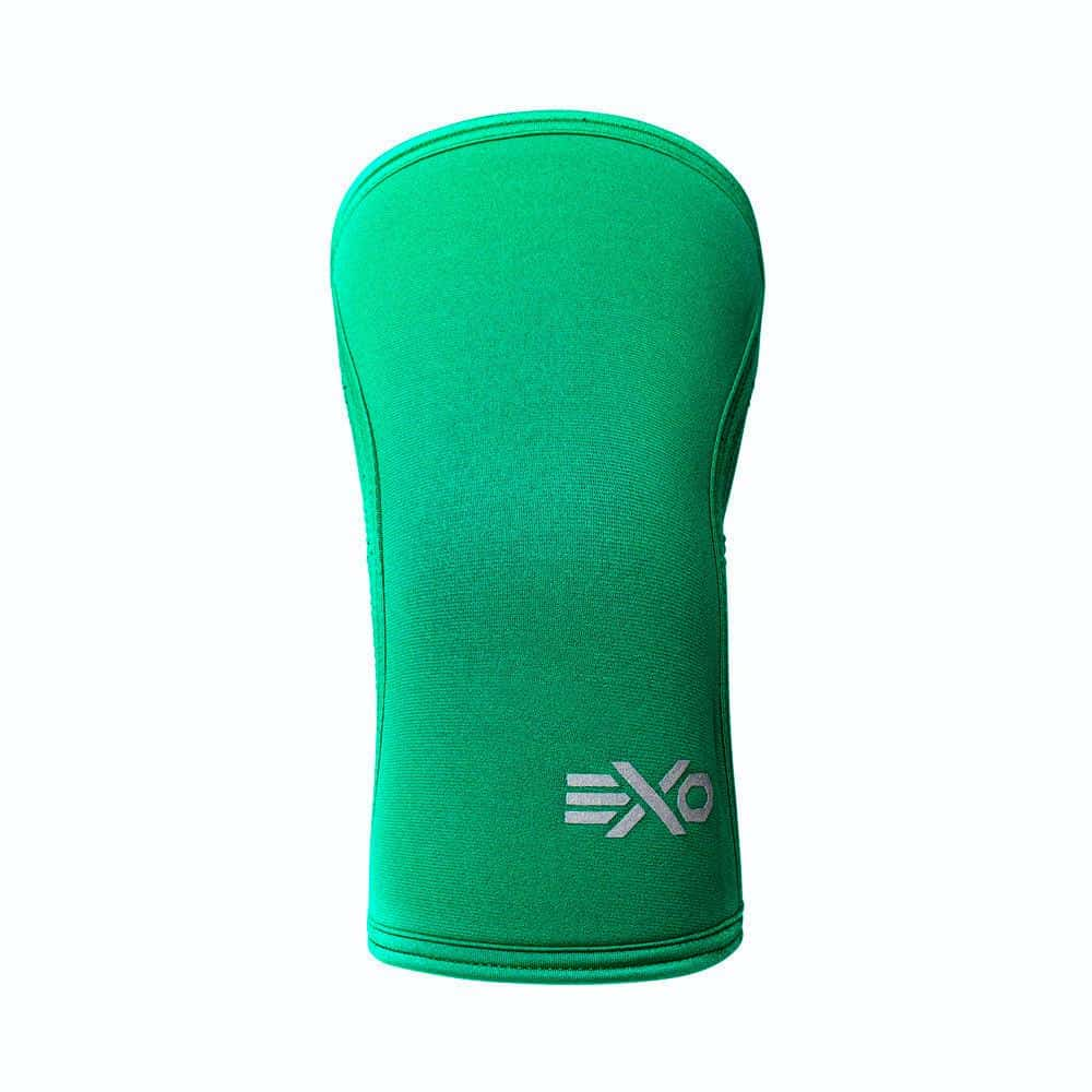 Exo 5mm Knee Sleeves Emerald Green Front ArmourUP Asia Singapore