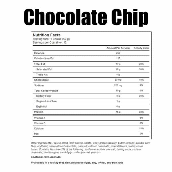 Quest Protein Cookie Chocolate Chip Nutrition Facts ArmourUP Asia Singapore