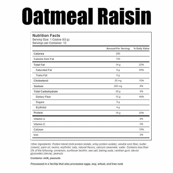 Quest Protein Cookie Oatmeal Raisin Nutrition Facts ArmourUP Asia Singapore