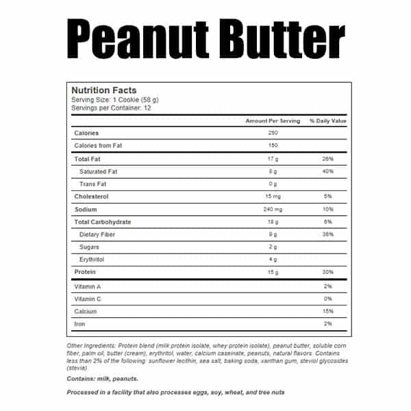 Quest Protein Cookie Peanut Butter Nutrition Facts ArmourUP Asia Singapore