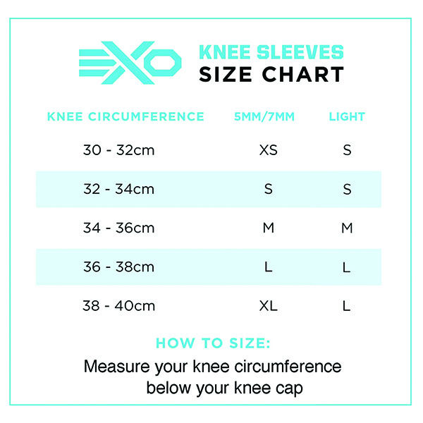 ExoSleeve Knee Sleeves Sizing Guide New ArmourUP Asia Singapore