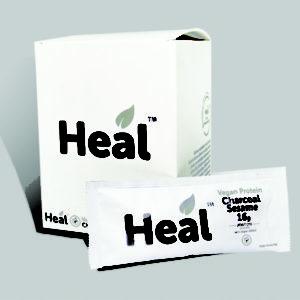 Heal Vegan Protein Charcoal Sesame Box 32g x 16 Sachets ArmourUP Asia Singapore